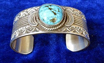 Navajo bracelet  1 turquoise stone 1
