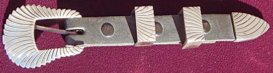 Navajo Silver Ranger Belt Buckle A